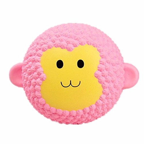 Emubody Squeeze Toys Emulation Cake Squishy Slow Rising Crazy Jumbo Slow Rising Squishies Scented Decompression Toys (Monkey, 4.7 inches) (Crazy Monkey)