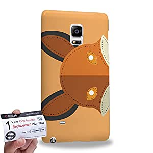 Case88 [Samsung Galaxy Note Edge] 3D impresa Carcasa/Funda dura para & Tarjeta de garantía - Art Fox Animals Patches Series