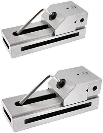 gazechimp 2ピース/個1.5インチ2インチPrecision Grinding Screwless Mini Insert Vise Toolmaker Steel .0002インチ