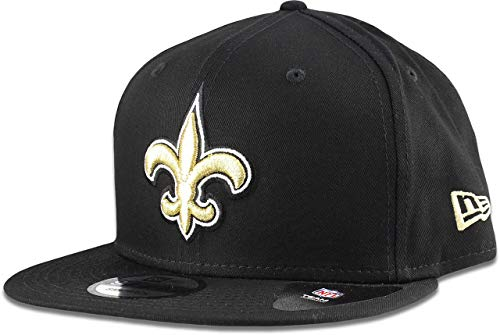 New Era New Orleans Saints Hat NFL Black Team Color Logo 9FIFTY Snapback Adjustable Cap Adult One Size
