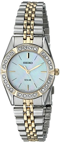 - Seiko Women's SUP094 Solar-Power Two-Tone Bracelet Watch