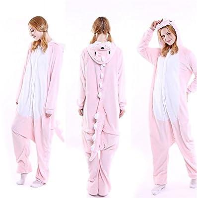 Unisex Adult Pajamas Plush Cosplay Winter Sleepwear Animal Costume Home Bathrobe
