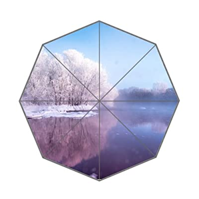 personnalisée Grenouille Ice Lake pluie Parapluie