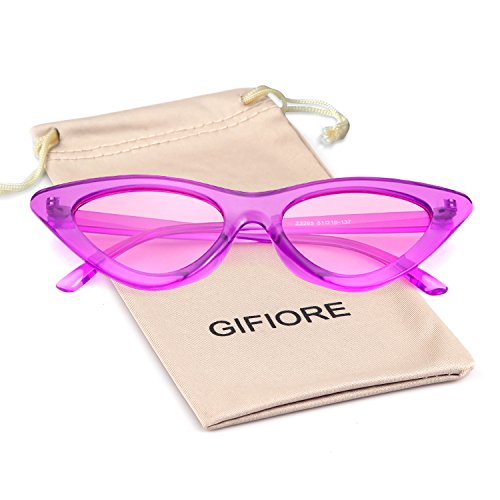 29cbdba0b813 Gifiore Retro Vintage Cat Eye Sunglasses for Women Clout Goggles Plastic  Frame Glasses - Buy Online in KSA. Shoes products in Saudi Arabia.
