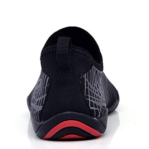 JIASUQI Kinder Damen Herren Quick Dry Aqua Barfuß Sport Wasser Schuhe für Schwimmen, Bootfahren, Segeln, Strand, Yoga, Fahren Schwarz