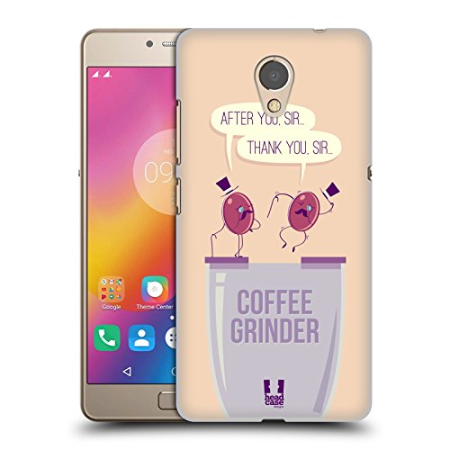 Head Case Designs Grinder Waggish Coffee Bean Hard Back Case for Lenovo P2 / Vibe P2