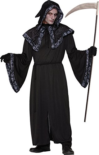 Men's Grim Reaper Halloween Fancy Dress Party Outfit Spirits & Souls Robe Only ()