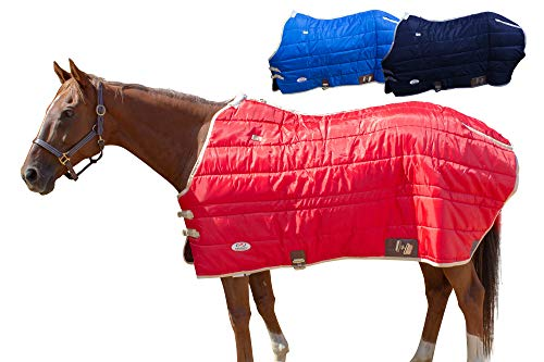 Derby Originals 420D Breathable Water-Resistant Nylon Heavyweight Winter Horse Stable Blanket  - Heavy Weight 300g Polyfil -