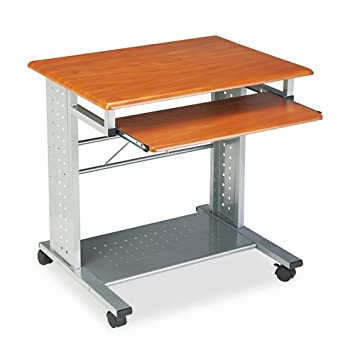 Mayline Empire Mobile PC Workstation – Rectangle – 29.8quot Height – Steel – Cherry