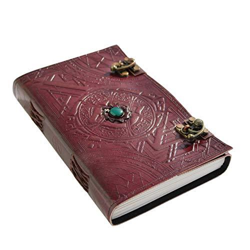 Doctor Strange Eye of Agamotto Embossed Handmade Stone Leather Journal Art Sketchbook Travel Dairy with Vintage Lock - Cover Strange