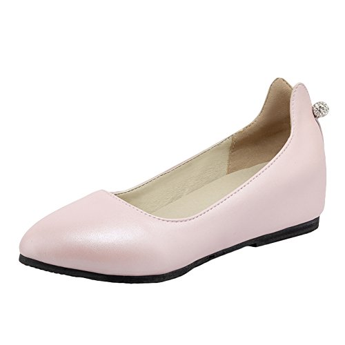 Latasa Womens All Weather Slip on Inside Wedges Shoes Pink L2YxTd96