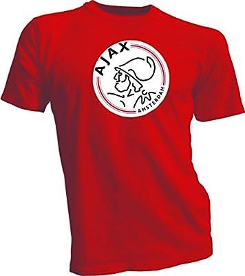 Gildan AFC Ajax Amsterdam Football Club Soccer T-Shirt Red XL