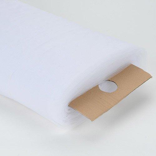 Premium White Tulle Fabric Bolt 108