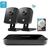 Zmodo Replay 720p 4CH NVR 2 Indoor Wireless Two-Way Audio Camera Home Security System Remote Playback 500GB Hard Drive