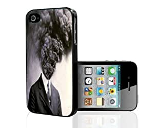 Black and White Hot Temper Head Explosives Hard Snap on Phone Case (iPhone 4/4s) by supermalls