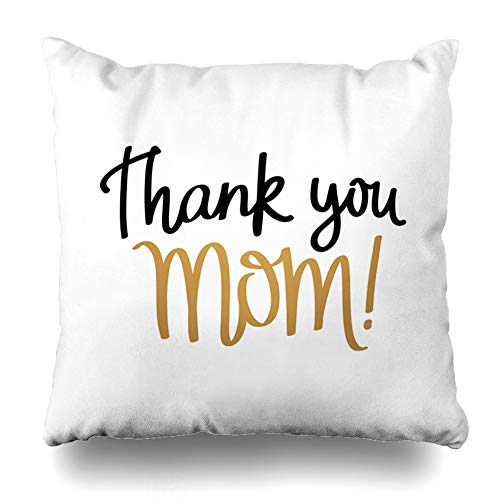 - Ahawoso Throw Pillow Cover Mother27s Black Quote Love You Mom I Excellent for Mother Calendar 39 Day On Holidays Thank Great Decor Zippered Cushion Case 18