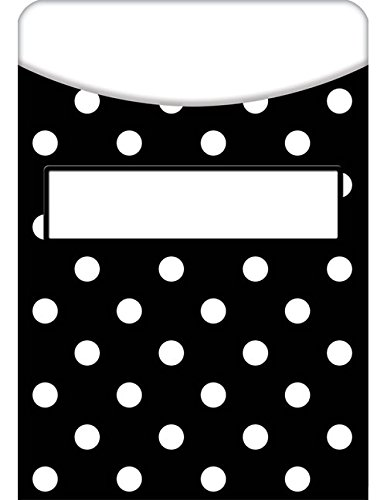 (Teacher Created Resources Black Polka Dots Library Pockets (5552))