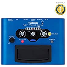 Boss VE-1 Vocal Echo Battery-powered Portable Vocal Processor with 1 Year Free Extended Warranty