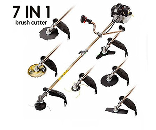 CHIKURA 52cc Multi 7 in1 Petrol Strimmer Grass Trimmer Brush Hedge Trimmer Whipper Snipper