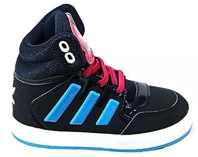 buy popular 9a3fc 4ac83 Adidas Dropstep EL Infant M17211 Hi Top Navy Sneakers Trainers Kids JR BNIB  NEW (3K) Amazon.co.uk Shoes  Bags