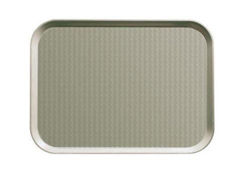 Cambro (1014FF107) 10'' x 14'' Rectangular Polypropylene Fast Food Tray [Case of 24]
