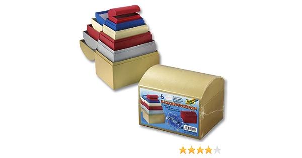 Folia 3409 – Cajas de regalo de cartón baúl, 6 unidades), colores en diferentes tamaños y colores , color/modelo surtido: Amazon.es: Juguetes y juegos