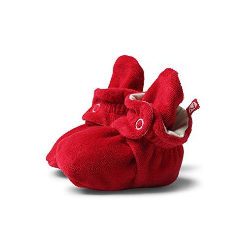 (Zutano Baby Velour Bootie - Red, 18 Months)