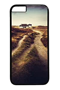 iphone 6 plus Case, iphone 6 plus Cases -Dirt road house Polycarbonate Hard Case Back Cover for iphone 6 plus 5.5 inch Black