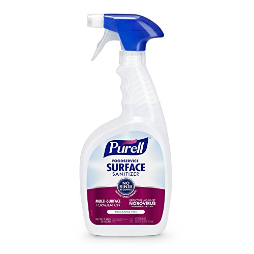 PURELL Foodservice Surface Sanitizer 32 oz, Fragrance Free, RTU (Pack of 3) (No Rinse Hand Sanitizer)