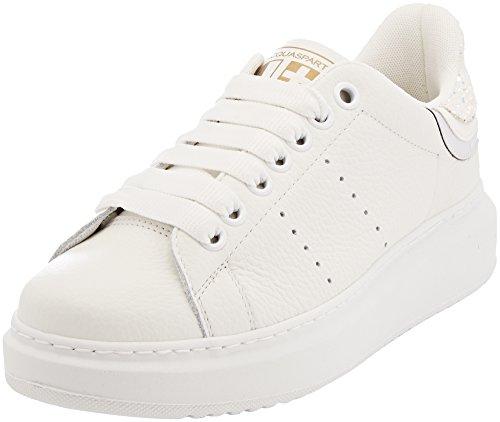 D'Acquasparta Gemma, Zapatillas para Mujer Bianco (Bs D150)