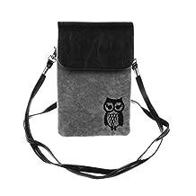 KISS GOLD(TM) Owl Print Vertical Mini Cotton Cellphone Pouch