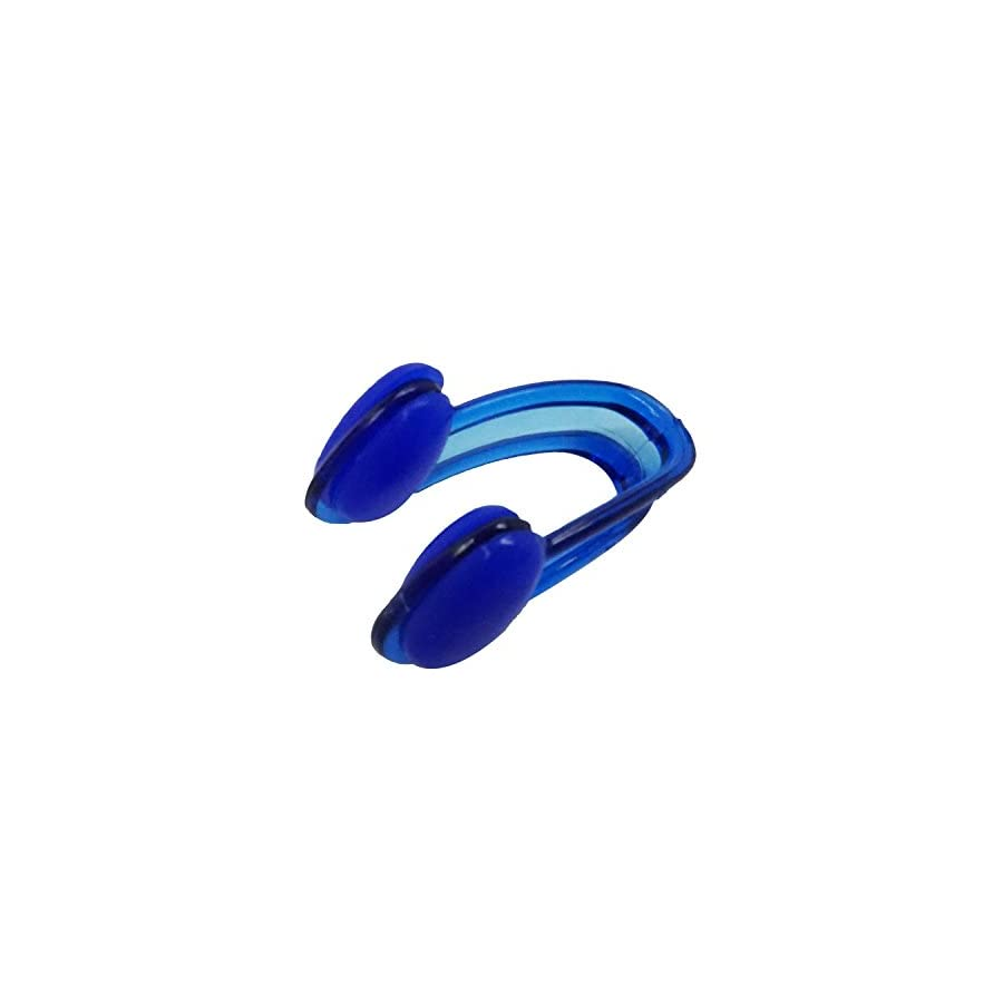 Soft Blue Ear Plug & Nose Clip Set with Case for Swimming Free Dive