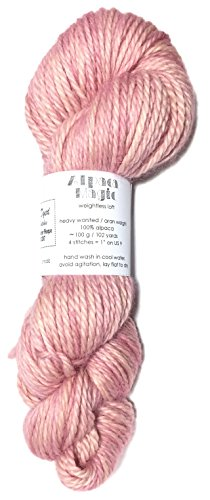 (Hand Dyed Baby Alpaca Yarn, Kettle Dyed: Lobster Bisque, Heavy Worsted Weight, 100 Grams, 102 Yards, 100% Baby Alpaca)