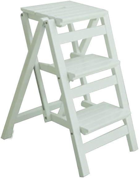 Escalera SCBED multifunción plegable de madera de heces |Nivel 3 Escalera Escalera Silla |Banco