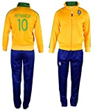 Brazil Neymar #10 Kids Soccer Tracksuit All Youth Sizes Track Jacket Top or Tracksuits with Pants Gift Set (YL 10-12 Years, Neymar Brazil Home)
