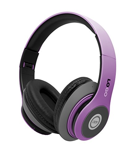 iJoy Matte Rechargeable Wireless Bluetooth Foldable Over Ear Headphones with Mic, EDM by iJoy