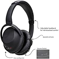 TRK Active Over-The-Ear Noise Cancelling Bluetooth Headphones, Wireless Over-ear Stereo Earphones with Microphone Volume Control Sports Stereo for PCs & Tablets Smartphones with Travel Case