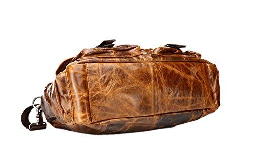 Red de Brown piel Vintage Marrón Hombre insum hombro de mango bolsa Ow4vPt