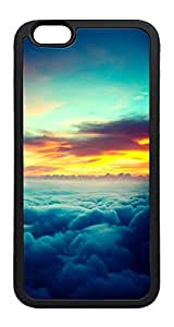 iPhone 6 Plus Case, Nature Wonderful Sunset Thick Cloudy Skyview TPU Rubber Bumper Polycarbonate Hybrid Case Full Protection Case for iPhone 6 Plus 5.5 Black