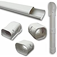 7.5 Ft Line Set Cover Kit 3 for Mini Split and Central Air Conditioner & Heat Pump Line Set Cover Kit Decorative Tubing Cover