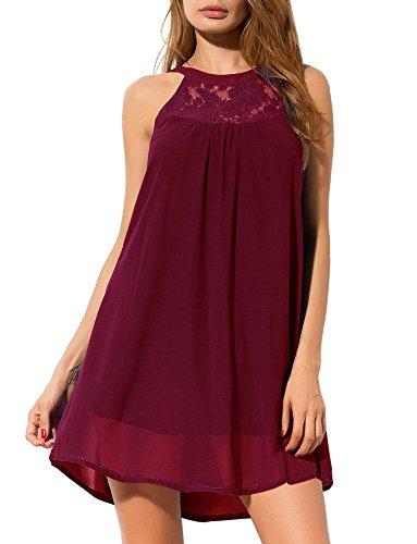 PrinStory Sleeveless Patchwork Dresses Chiffon product image