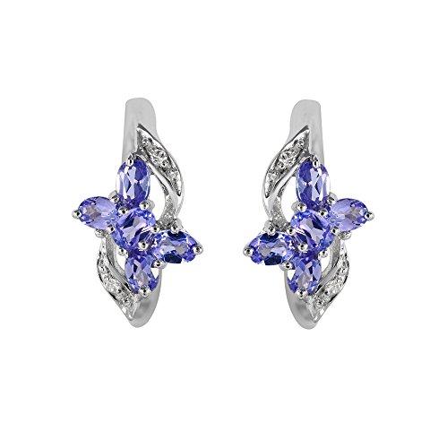 Ivy Gems femme  Argent 925/1000  Argent|#Silver Marquise   Bleu Tansanit