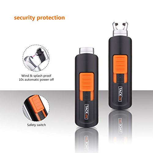Lighter, Tacklife ELY03 Electric Arc Lighter, USB Rechargeable Electric Lighter with Li-Ion Battery 300 Times Spark for Per Charge, Windproof Pocket & Candle Lighter for Indoor and Outdoor by TACKLIFE (Image #1)