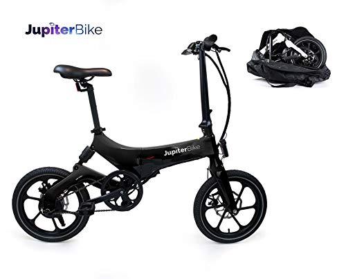 Jupiter Bike Discovery Lightweight Folding Pedal Assist Electric Bike by JupiterBike (Black) (Best Pedal Assist Electric Bike)