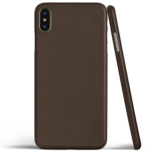 Thin Leather Case for iPhone X (Mocha (Fitted Lambskin Leather Case)