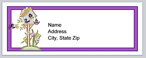 (120 Personalized Address labels Primitive country Birdhouse (P 143))
