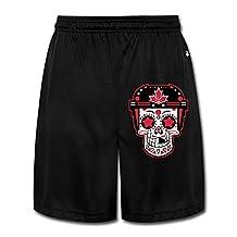 SCU Ice Hockey WCH 2016 Team Canada Sugar Skull Men's Shorts Sweatpants