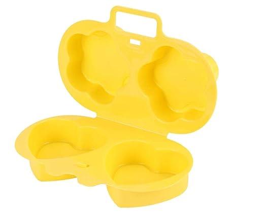 Yuaer Hueveras de plástico Tazas de Huevo furtivo Tortilla de ...