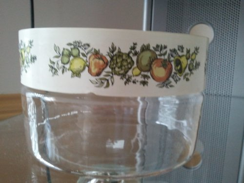 (Vintage Corning Pyrex Spice O Life Store N See Storage Canister)