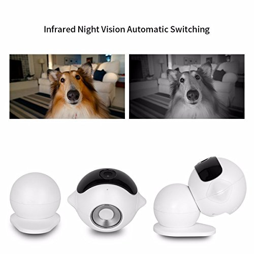 KING DO WAY Security Camera HD Home Wireless Mini Robot Surveillance Camera (Day/Night Vision,720P, 2 Way Audio, SD Card Slot, Mobile Android/iOS/iPad/Tablet) For Pet Monitor, Puppy , Baby Monitor